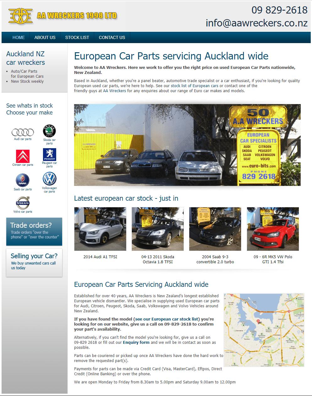 Original homepage screenshot