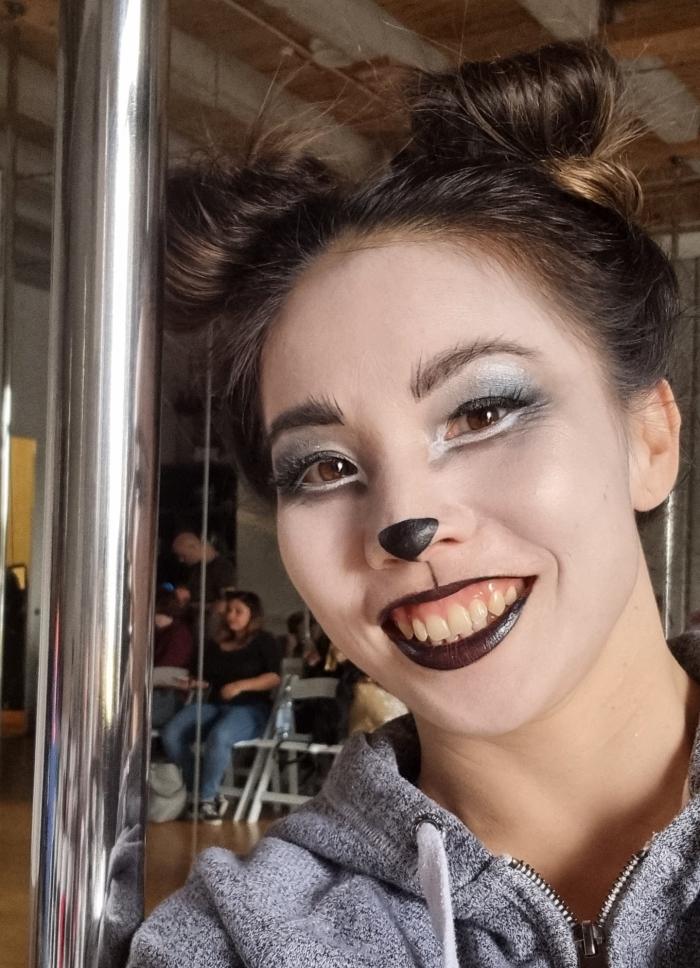 Photo of Vivian Chandra in Panda makeup
